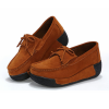 Women Brown High Wedge Casual Shoes image