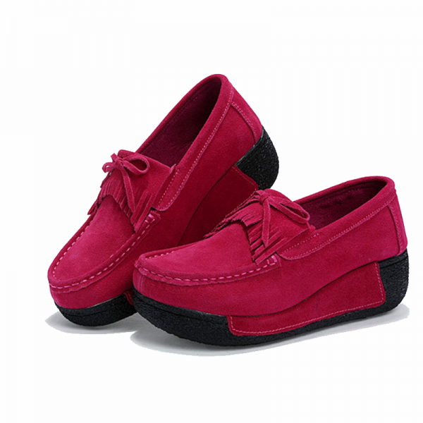 Women Pink High Wedge Casual Shoes image