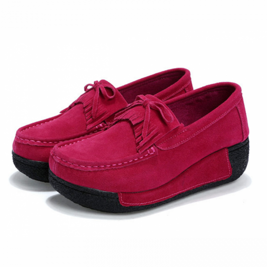 HOT Sport Platform High Wedge Casual Shoes-Pink image