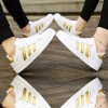 Gold Color Classic Three Bars Shell Head Board Shoes For Women image