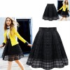 Women Fashion Black Root Yarn Skirt Dress image