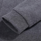 Slim Women Simple Pullover Long Sleeves Black Hoodie image