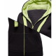 Women Fashion Black with Green Shade Zip Body Fit Hoodie Sweater image