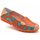 Comfortable Soft Mom Loafer Flats For Women-Orange image