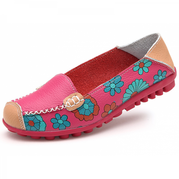 Pink Color Comfortable Soft Mom Loafer Flats For Women image