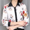 White Color Printing Coat Wild Slim Professional Women Shirt image