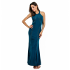 Women Body Tight Geometric Stitching Sexy Navy Blue Party Dress image