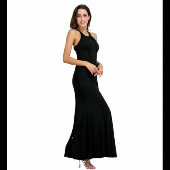 Women New Fashion Body Tight Geometric Stitching Party Dress-Black image