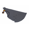 Women Striped Sea Soul Waist Round Neck Short Mini Black Dress image