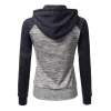 Women Pullover Hoodie Blue & Grey Cotton Casual Sweater image