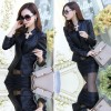 Ladies Leisure Style Slim Body Fit leather Casual Jacket & Leather Skirt image
