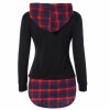 Women Newest Fashion Plaid Cotton Long Sleeves Hoodie image