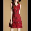 Ladies Luxury Sleeveless Jacquard Slim Stitching Pencil Dress image