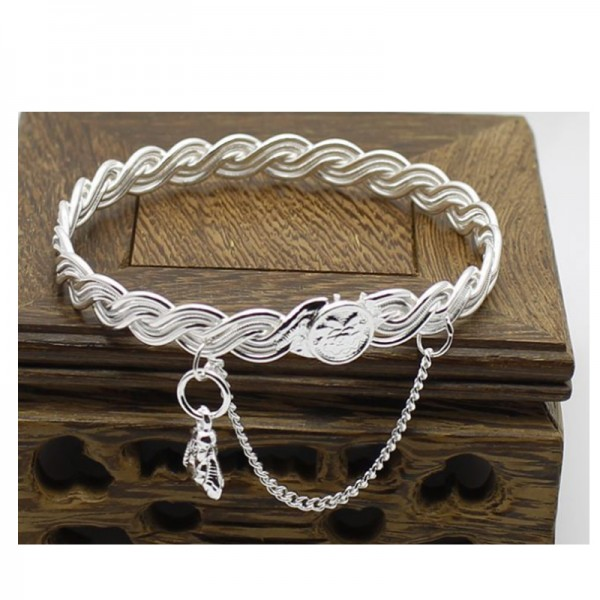 Silver Plated Color Buddha Hanging Love Bracelet For Women image