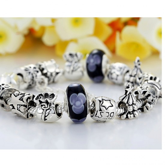 Silver Plated Rhyme Charm Alloy Bracelet For Women CB-13 image