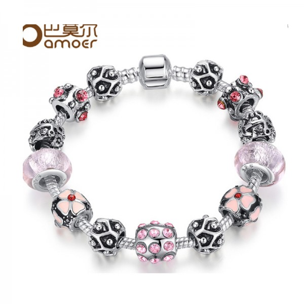 Silver Rhyme Personality Creative Clip Alloy Bracelet For Women image