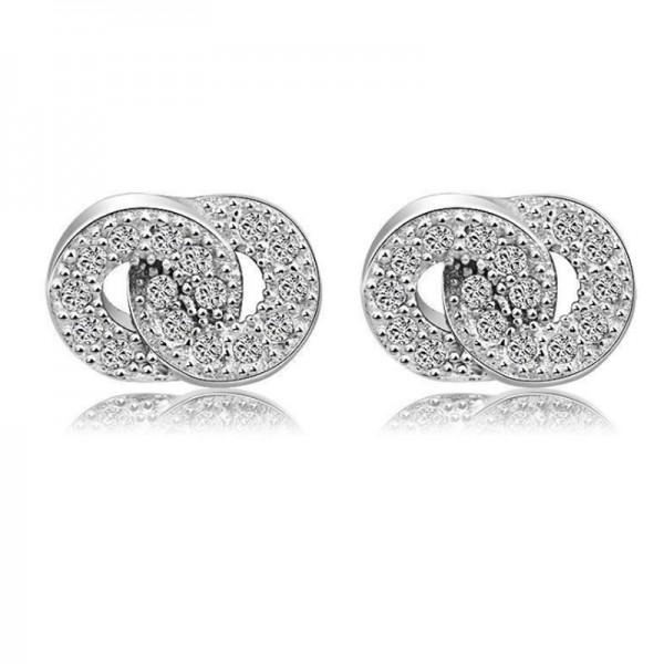 Silver Color Geometric Korean Fashion Earrings For Women E-13 image