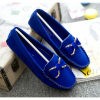 Blue Color Butterfly Fashion Clip Suede Comfortable Flats For Women SH-48BL image