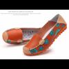 Orange Color Comfortable Soft Mom Loafer Flats For Women SH-37OR image