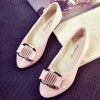 Pink Color Shining Pointed Flats For Women SH-12PK image