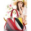Red Color Graffiti Pattern Shoulder Messenger Women's Handbag HB-14RD image