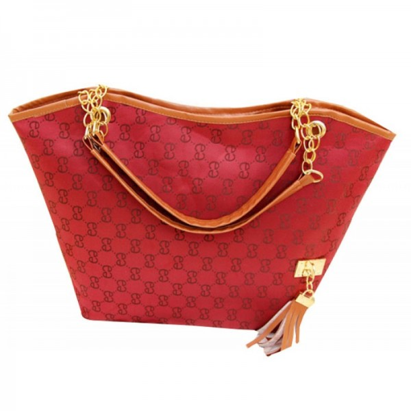 Red Color Korean Style Shoulder Handbag For Women's HB-03RD image