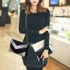 Women's Fashion Black Three Piece Crocodile Shoulder Bag Set HB-09BK image