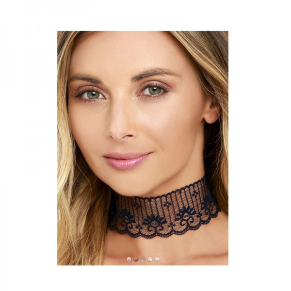 Black Color Short Neck Chain Constellation Necklace For Women image