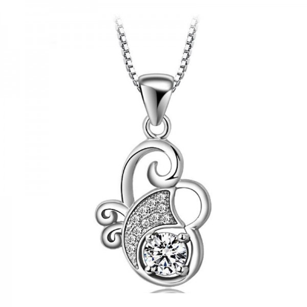 Silver Color Animal Zodiac Korean Fashion Pendant Necklace For Women N-02 image