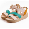 Green Color Beads Thick Sole Sandals For Women SH-49GN image