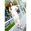 Red Color Open Toed Zipper Sandals For Women SH-17RD image
