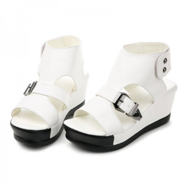 White Color Light Weight High Heel Sandals For Women image