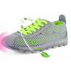 Grey Color Mesh Breathable High Sole Sports Sneakers For Women SH-43GR image