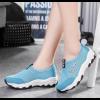 Light Blue Color Mesh Breathable Sports Shoes For Women SH-47BL image