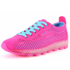 Pink Color Mesh Breathable High Sole Sports Sneakers For Women SH-43PK image