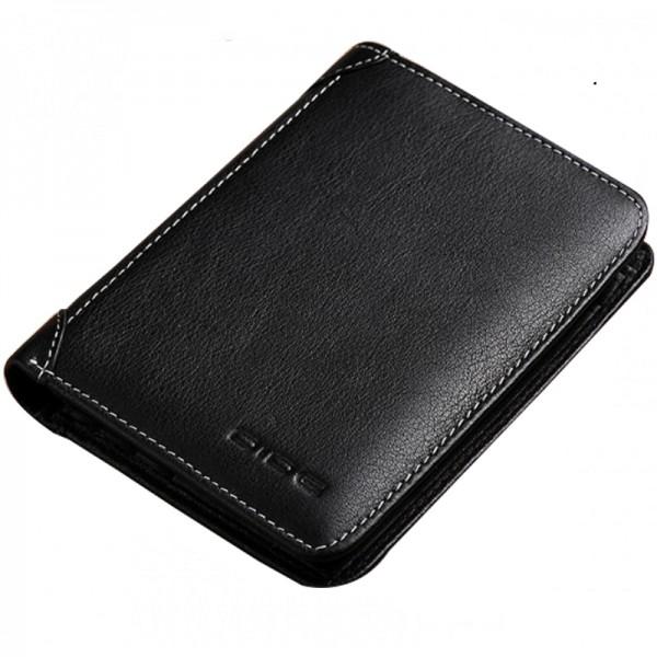 Black Color Korean Fashion Retro Soft Leather Wallets MW-02BK image