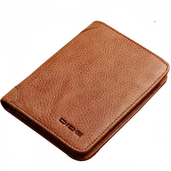 Brown Color Korean Fashion Retro Soft Leather Wallets MW-02BR image