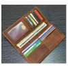 Brown Horse Skin Book Folding Style Multi Card Coat Wallet Without Zip image
